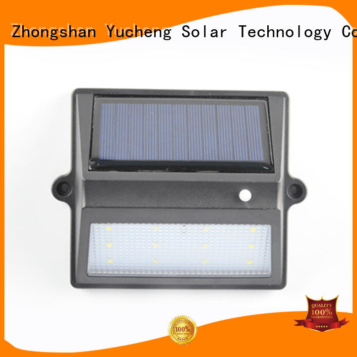 Yucheng Brand fence lighting custom fence mounted solar lights