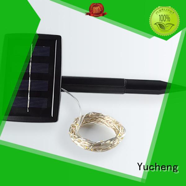 Yucheng black solar string lights supplier for courtyards