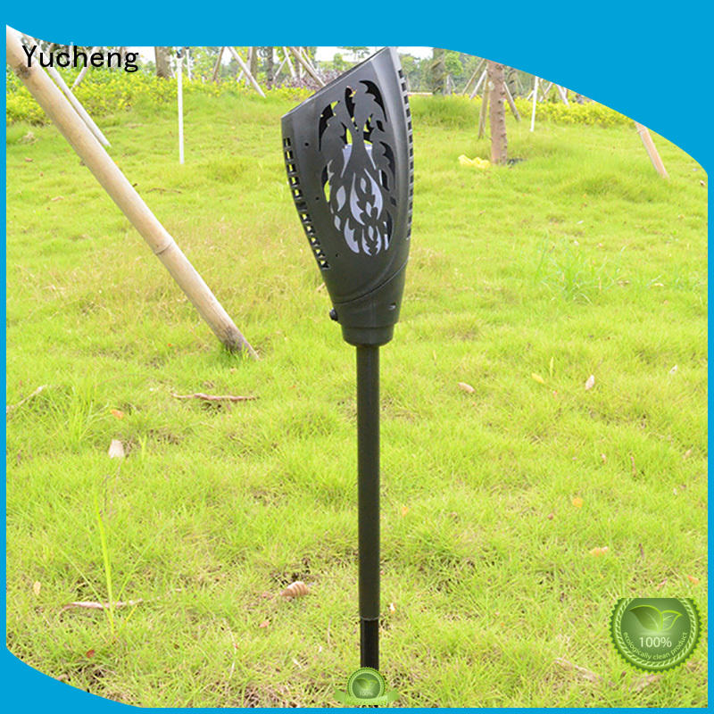 Yucheng Brand torch charging custom solar flame flickering lamp torch