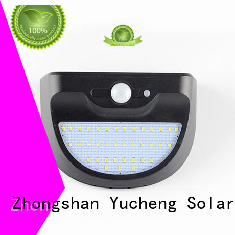 Wholesale mounting outside solar wall lights with motion sensor thin Yucheng Brand
