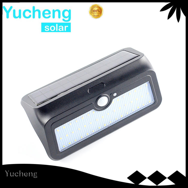 Yucheng Brand semicircular item mounting custom outside solar wall lights with motion sensor