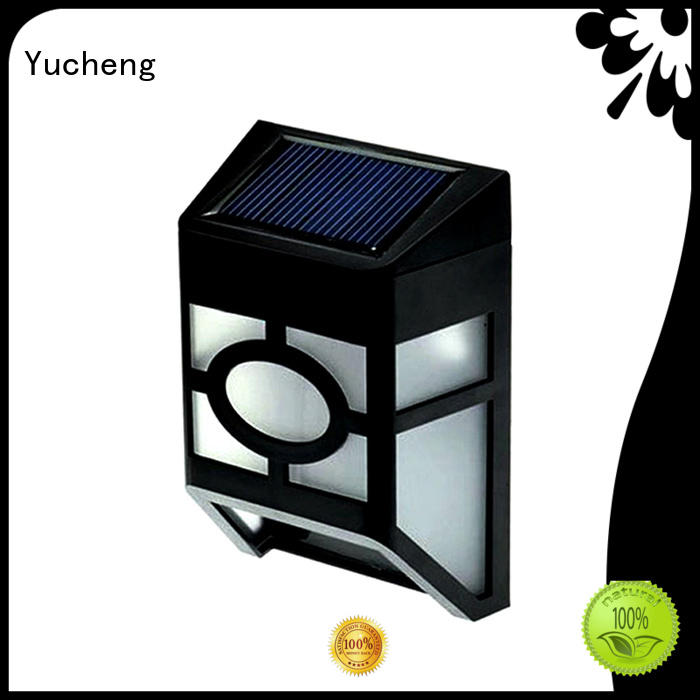 fence mounted solar lights wall fence solar garden fence lights Yucheng Brand