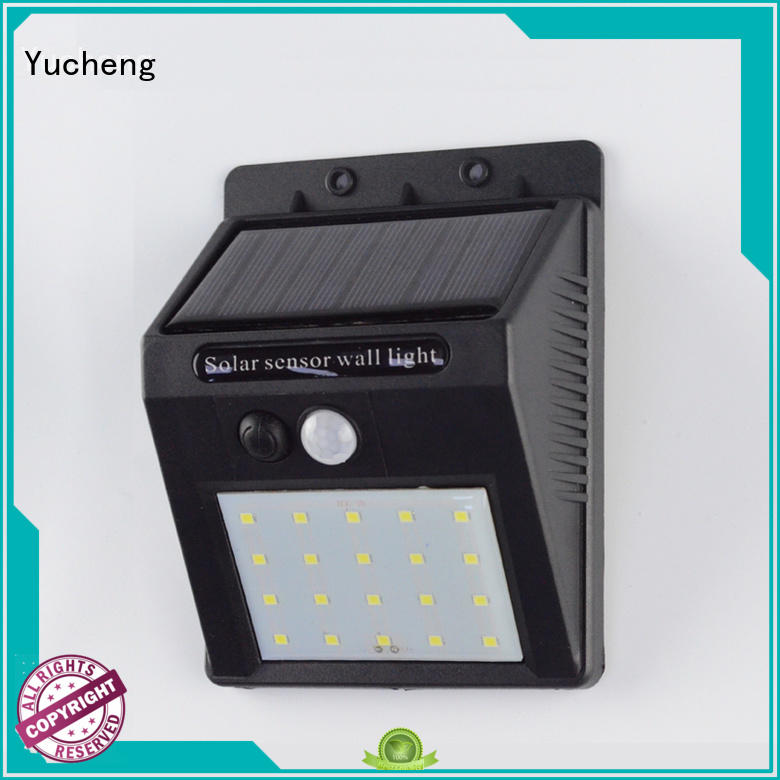 Hot steel solar powered sensor light square security Yucheng Brand