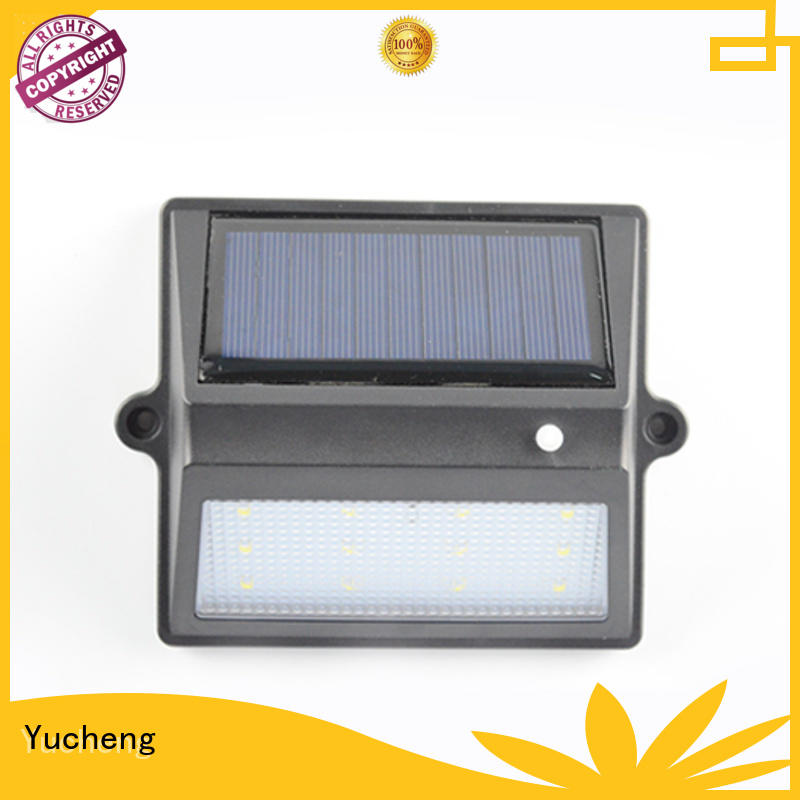 Yucheng solar garden fence lights factory for home