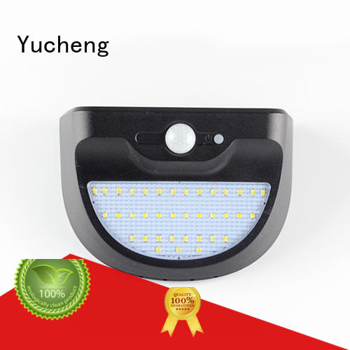 Yucheng waterproof solar powered sensor light supplier for pathway