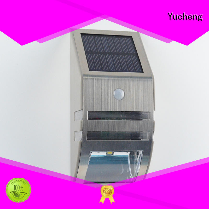 pole leds outside solar wall lights with motion sensor exterior outdoor Yucheng Brand