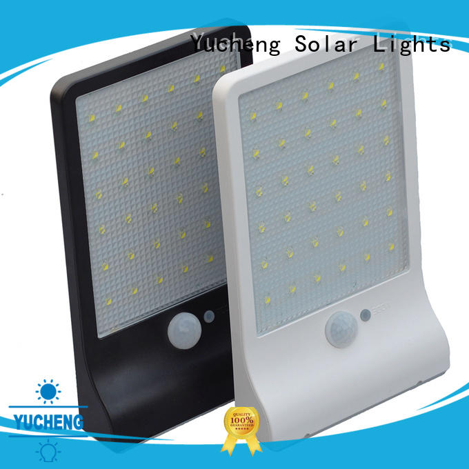 Yucheng ultrathin solar powered security lights supplier for docks