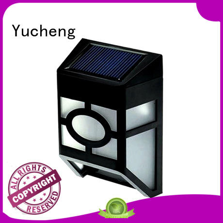fence mounted solar lights fence light solar garden fence lights solar Yucheng Brand