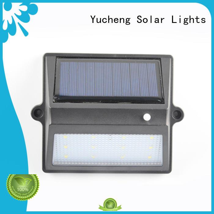 plastic shall solar fence lights manufacturer for home