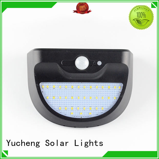 Yucheng solar sensor wall light supplier for docks