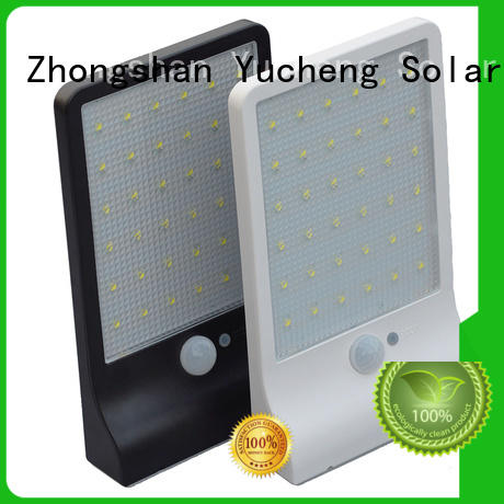 Yucheng reliable outside solar wall lights with motion sensor supplier for stair