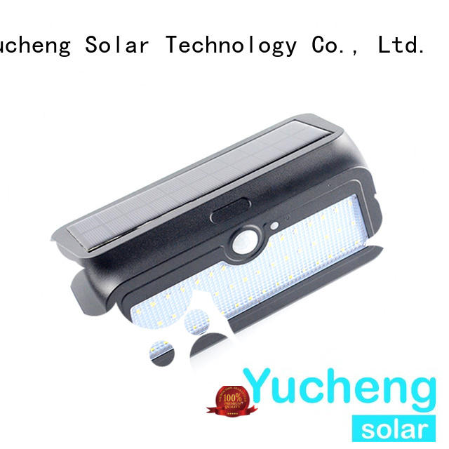 outside solar wall lights with motion sensor security powered Yucheng Brand
