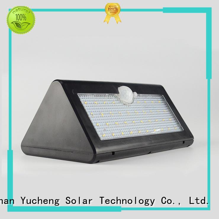 Yucheng Brand detector pole wall outside solar wall lights with motion sensor