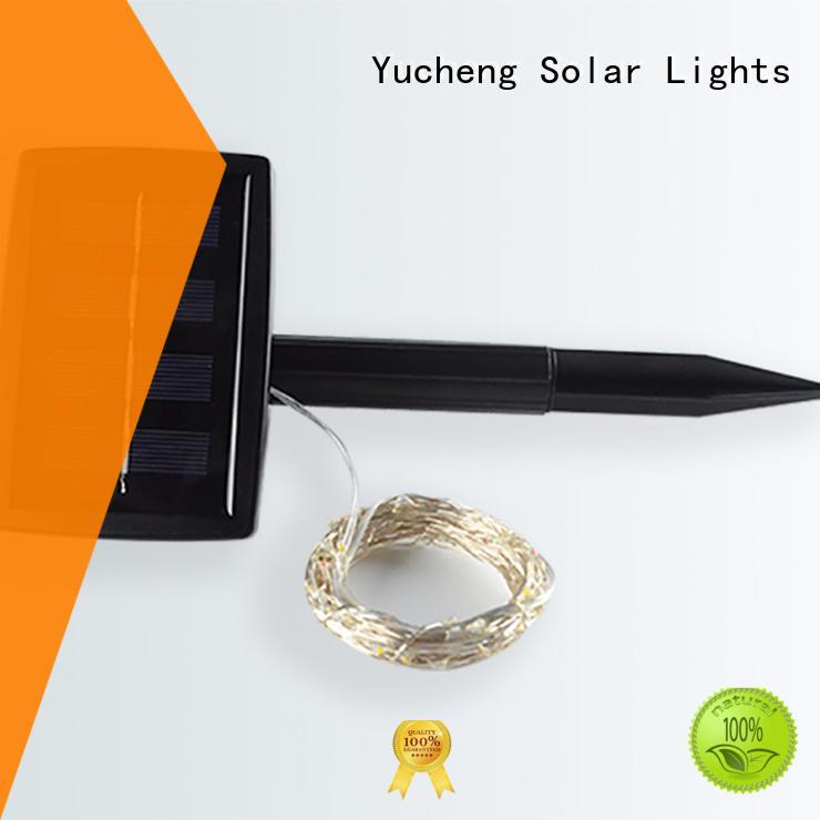 Yucheng black solar patio string lights for trees
