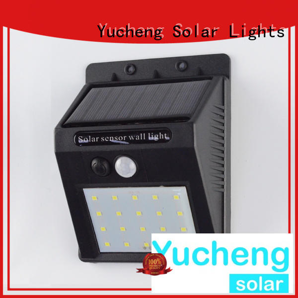 square solar wall sconce supplier for pathway
