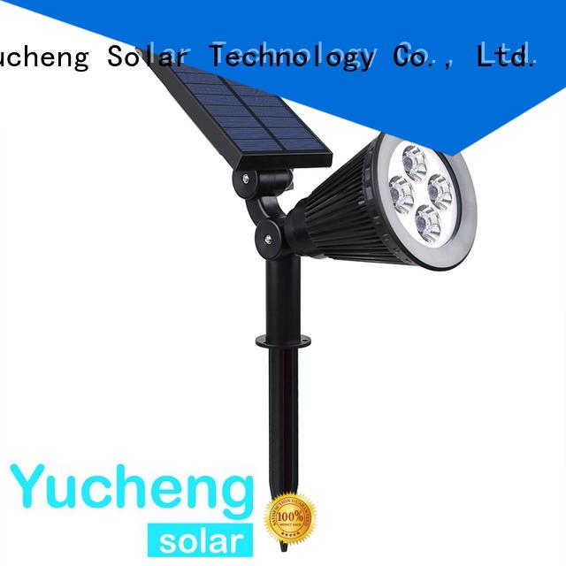 solar powered outside lights powered item adjustable Yucheng Brand solar led garden lights