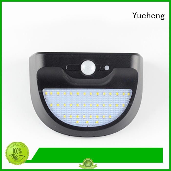 wall semicircular outside solar wall lights with motion sensor Yucheng manufacture