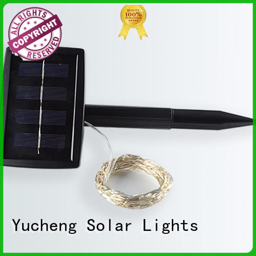 Yucheng long lasting outdoor solar string lights wholesale for shop windows