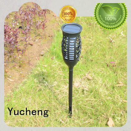Yucheng popular solar powered flame lights series for courtyards