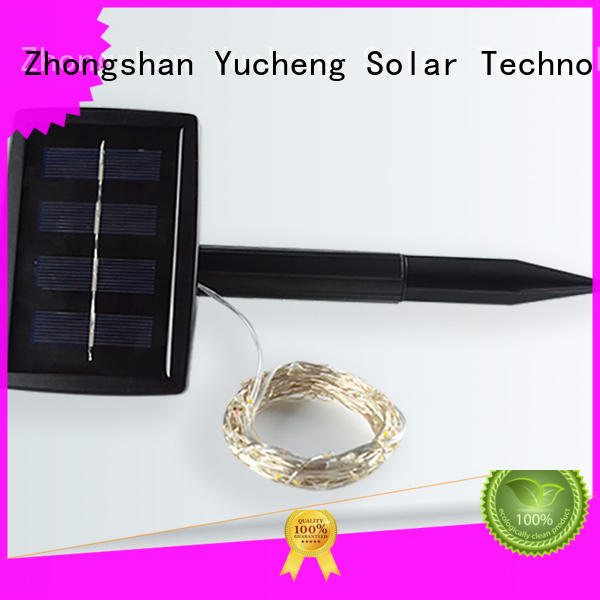 Yucheng bright solar powered outdoor string lights series for shop windows