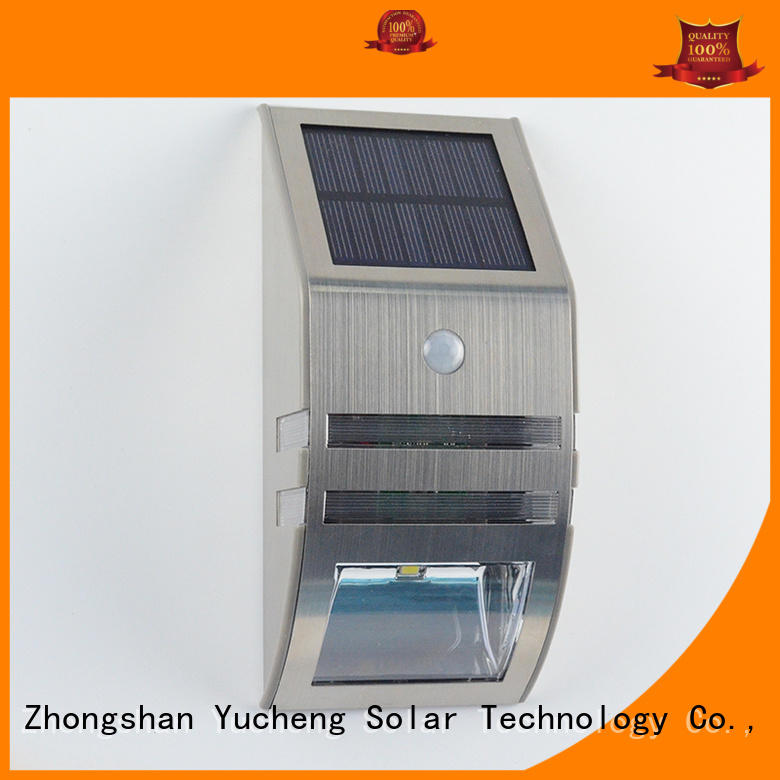 Hot semicircular outside solar wall lights with motion sensor security Yucheng Brand