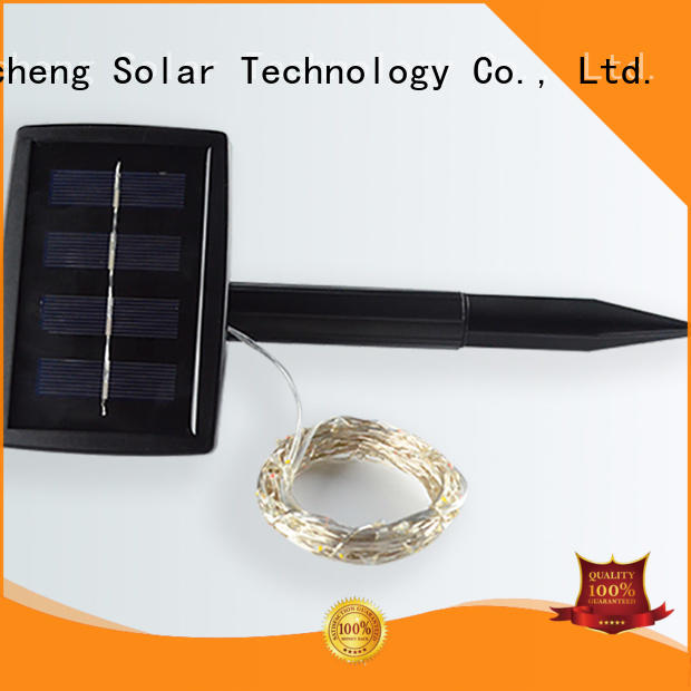 Yucheng solar powered outdoor string lights factory for courtyards