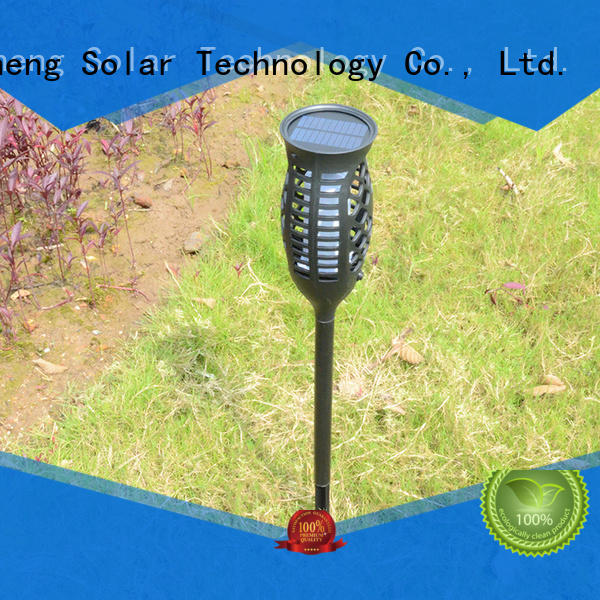 solar powered flame lights factory direct supply for courtyards
