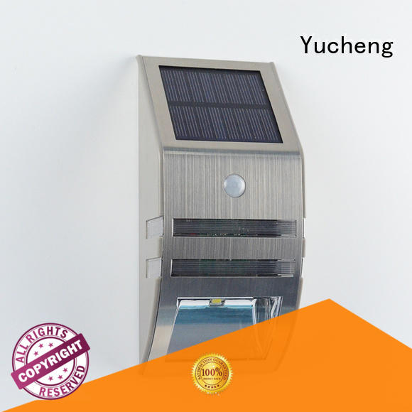 Yucheng wireless solar garage lights manufacturer for garden