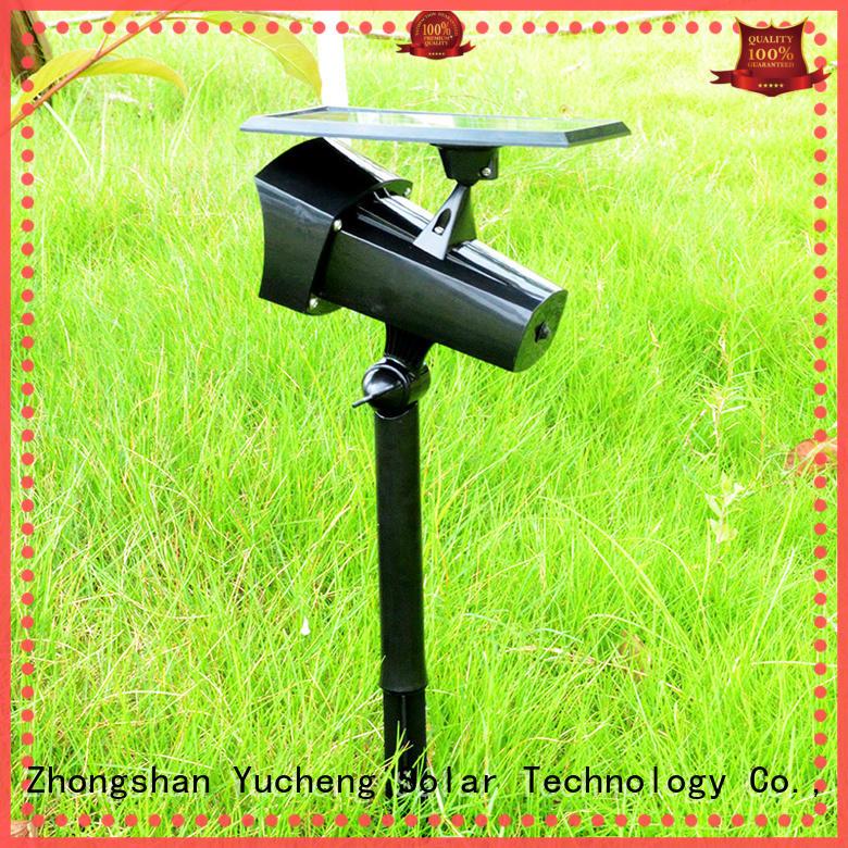 Yucheng professional solar powered outside lights for garden