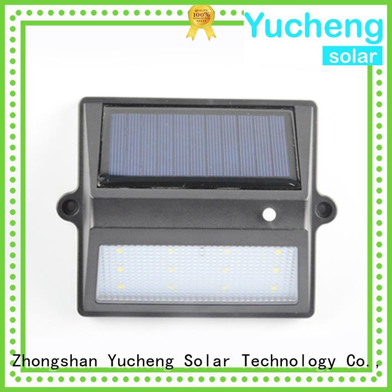 Yucheng Brand roof fence item solar garden fence lights manufacture