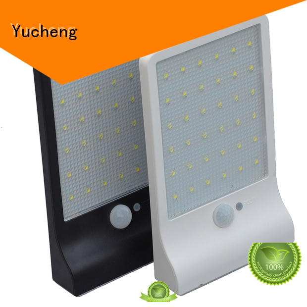 Hot outside solar wall lights with motion sensor steel Yucheng Brand