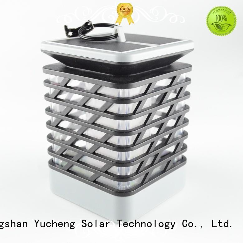 Quality Yucheng Brand solar flame flickering lamp torch shaped