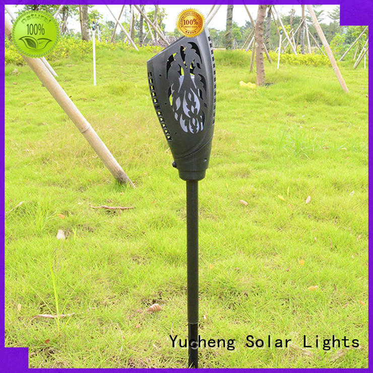 square solar flame light customized for home