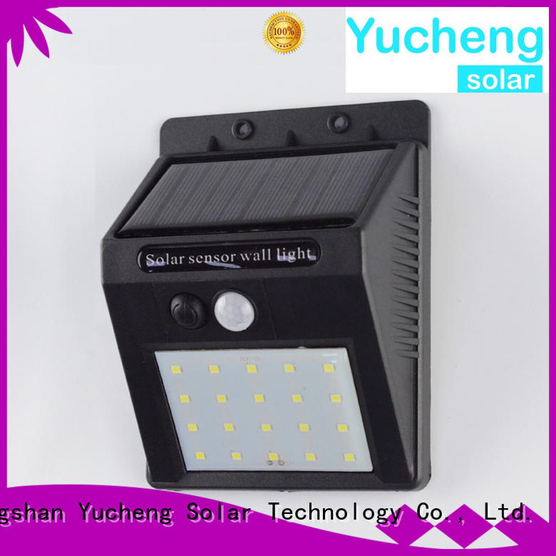 Wholesale detector outside solar wall lights with motion sensor Yucheng Brand