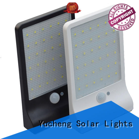 square outdoor solar wall lights series for garden