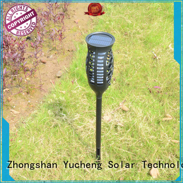 Yucheng solar flame light customized for park