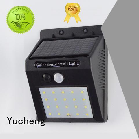 outside solar wall lights with motion sensor square lamp Yucheng Brand company