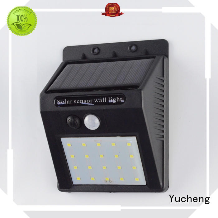 Yucheng Brand powered wall lamp outside solar wall lights with motion sensor ultra