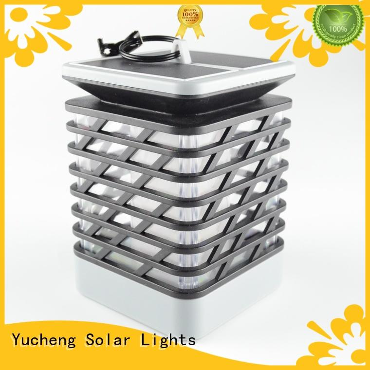 solar flame torch customized for park Yucheng