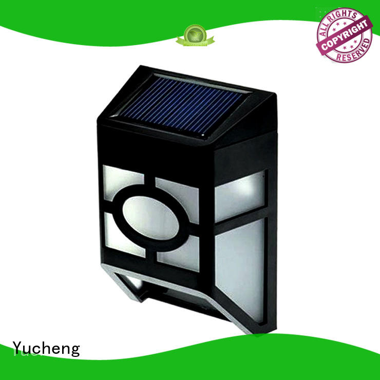 Yucheng plastic shall outdoor fence lighting supplier for home