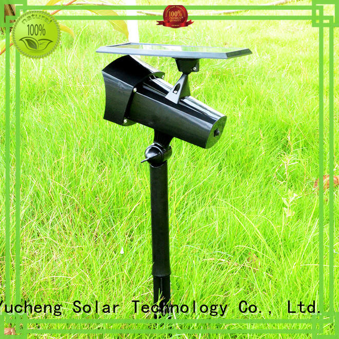 Yucheng intelligent control solar led garden lights customized for park