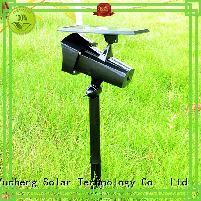 Yucheng intelligent control solar led garden lights customized for park