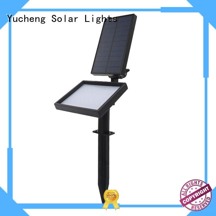 Yucheng high quality led solar spotlights outdoor manufacturer for park