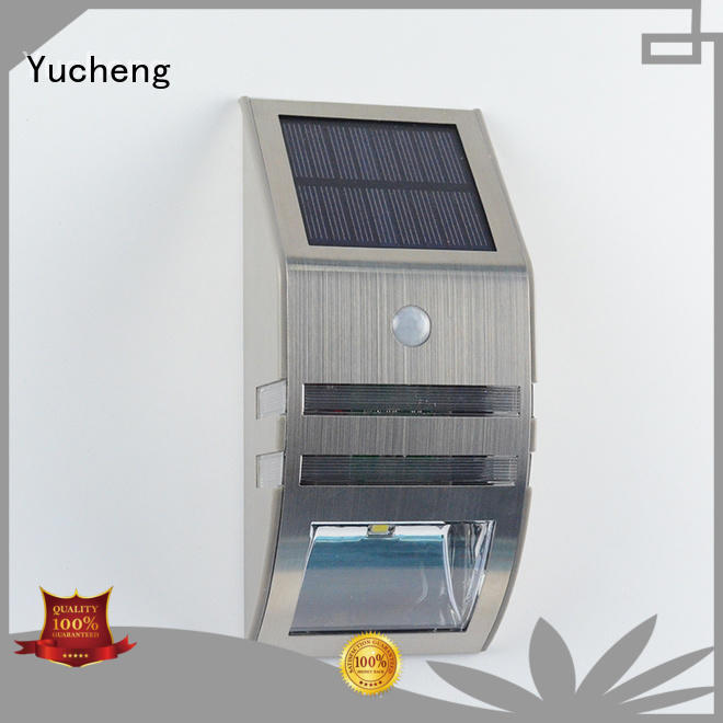 outside solar wall lights with motion sensor lamp Yucheng Brand solar powered sensor light