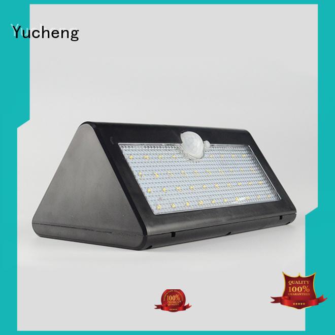 Yucheng solar outdoor wall lights supplier for garden