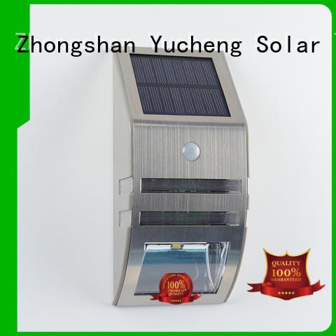 outside solar wall lights with motion sensor detector solar powered sensor light Yucheng Brand