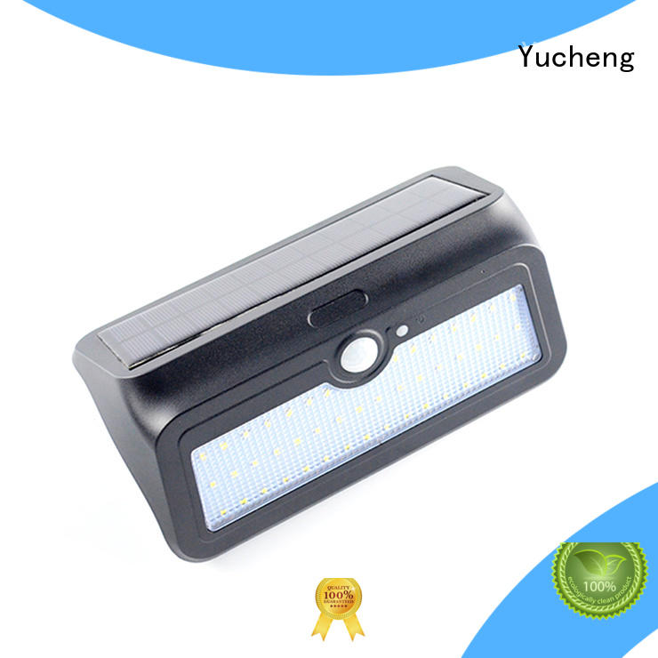 Yucheng solar outdoor wall lights factory direct supply for docks