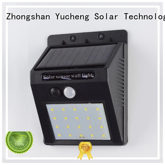 Custom led solar powered sensor light square Yucheng