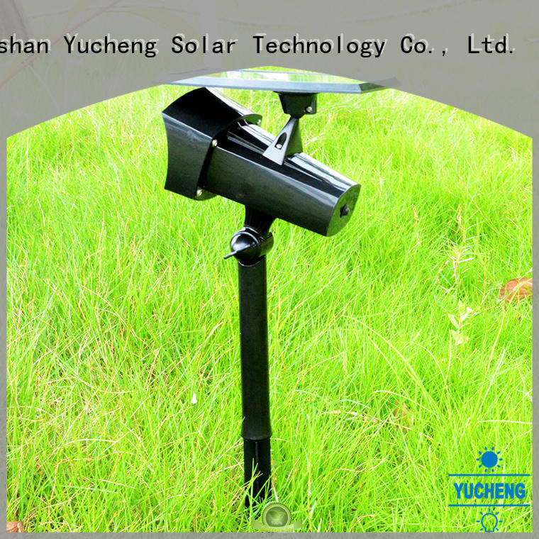 Yucheng power saving solar powered spotlights manufacturer for home
