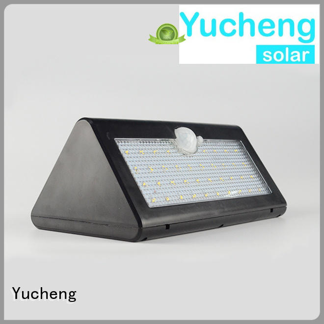 Hot thin outside solar wall lights with motion sensor leds Yucheng Brand
